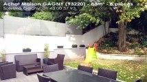 A vendre - maison - GAGNY (93220) - 5 pièces - 83m²