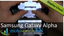 Samsung Galaxy Alpha Display-Check: Compared to the S5