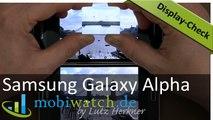Samsung Galaxy Alpha Display-Check: Vergleich mit dem S5