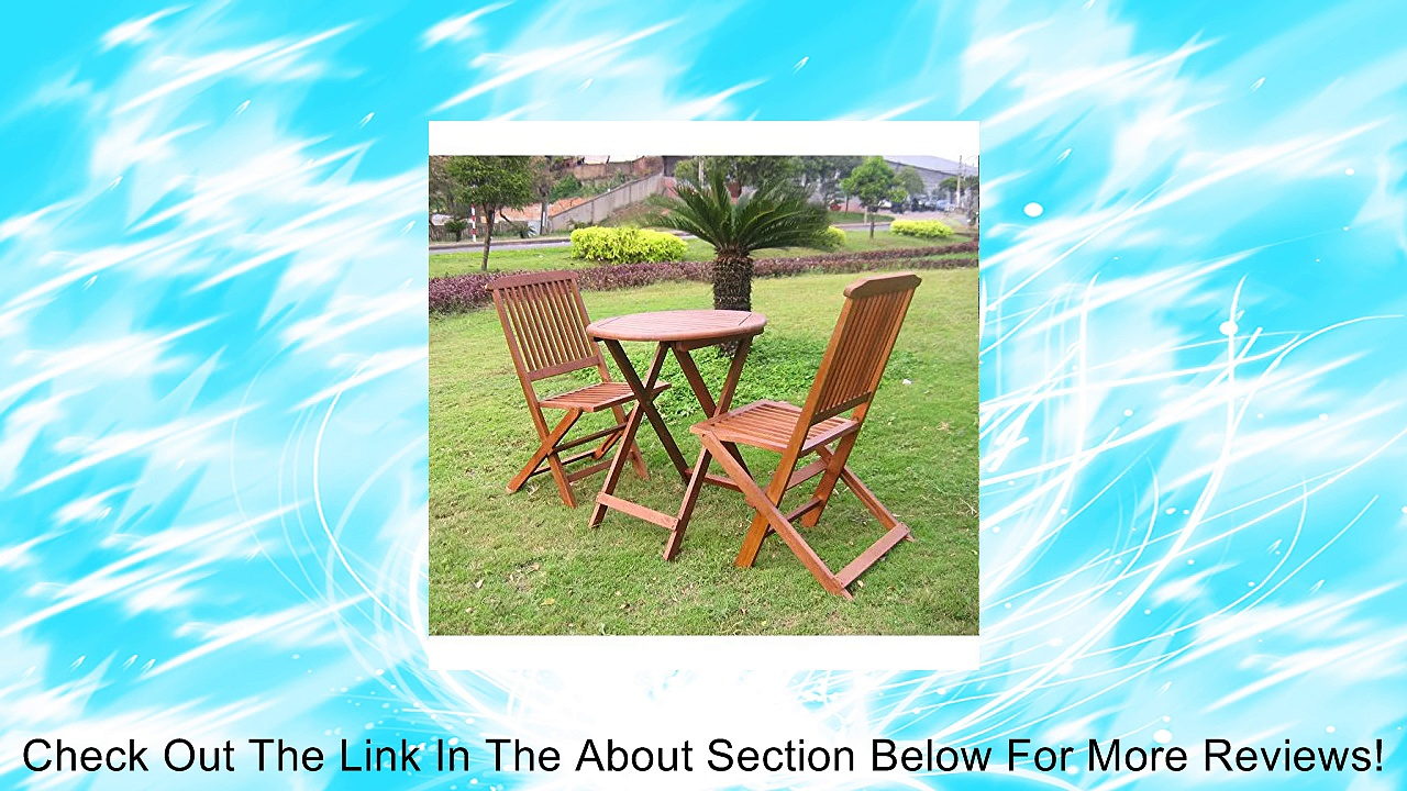 Folding Bistro Table & Chairs Set Review