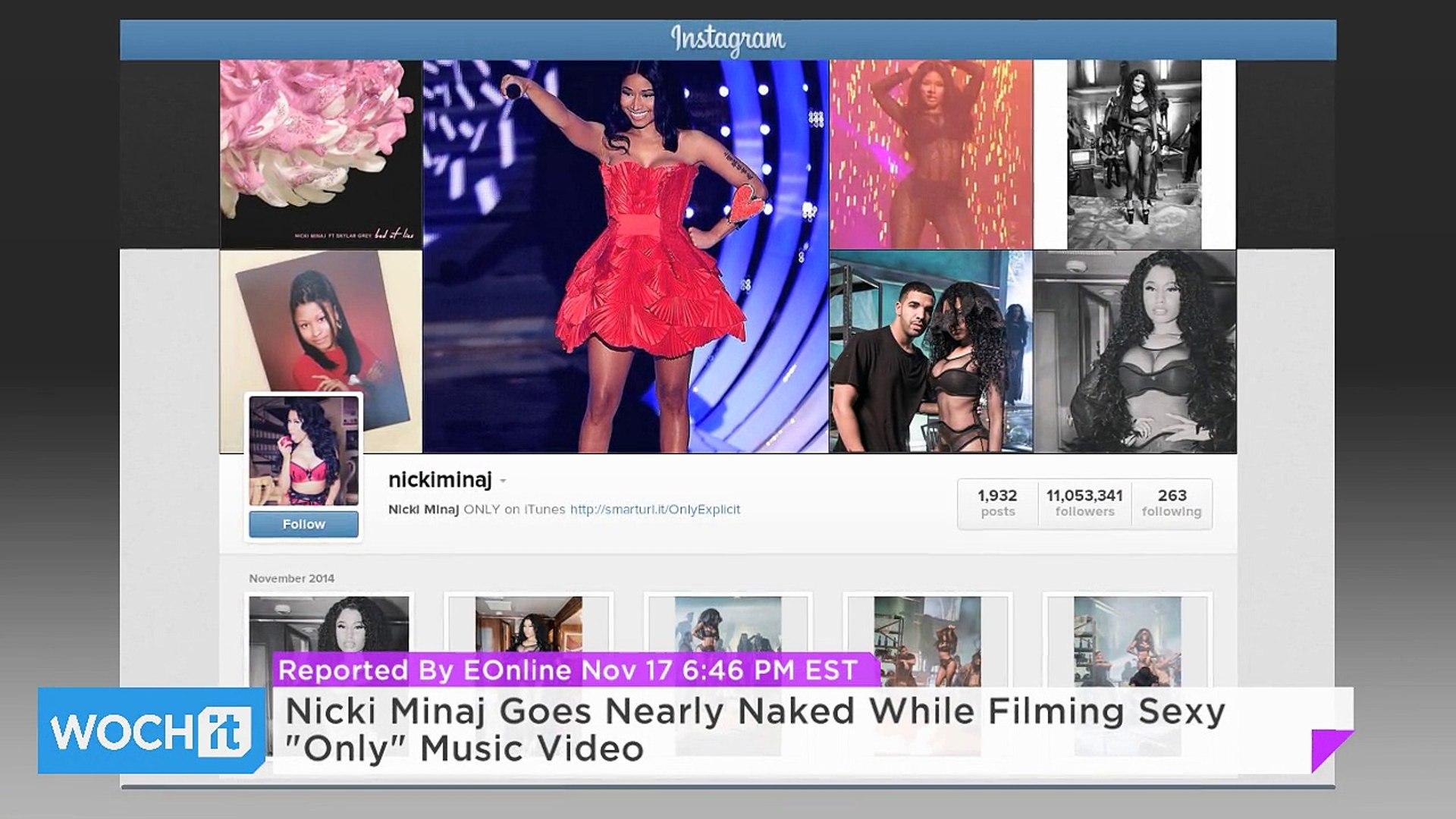 Nicki Minaj Goes Nearly Naked While Filming Sexy