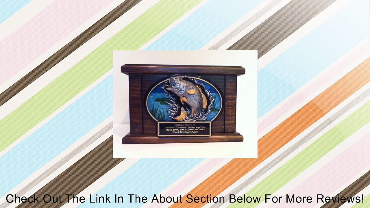 Cremation Urn, Wood Urn, Bass Fish Urn, Wooden Funeral Urn with Engraving Review