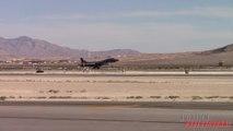 Powerful B-1 Bomber afterburner take off!