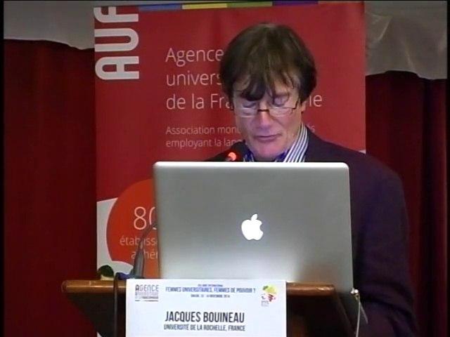 #FemmesSFDK2014 : Recommandations aux Chefs d'Etat et de gouvernement de la Francophonie & recommandations pour l'Agence universitaire de la Francophonie, par M. Jacques BOUINEAU.