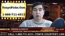 Ohio St Buckeyes vs. Indiana Hoosiers Free Pick Prediction NCAA College Football Odds Preview 11-22-2014