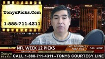 Week 12 NFL Free Picks Betting Predictions Odds Point Spread Previews 2014
