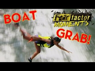 Fear Factor Moments | Boat Lean & Grab