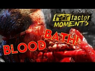 Fear Factor Moments | Cow Heart Blood Bath
