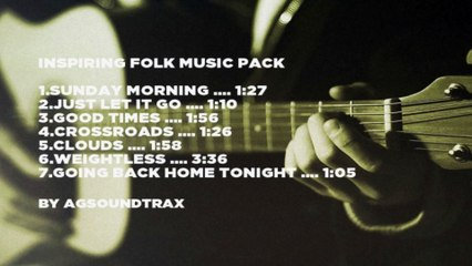 Inspiring Acoustic Folk Royalty Free Music Pack By AGsoundtrax