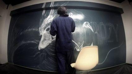 壁にリアルな龍の絵を描いてみた。【夢志】/ WALL ART DRAGON