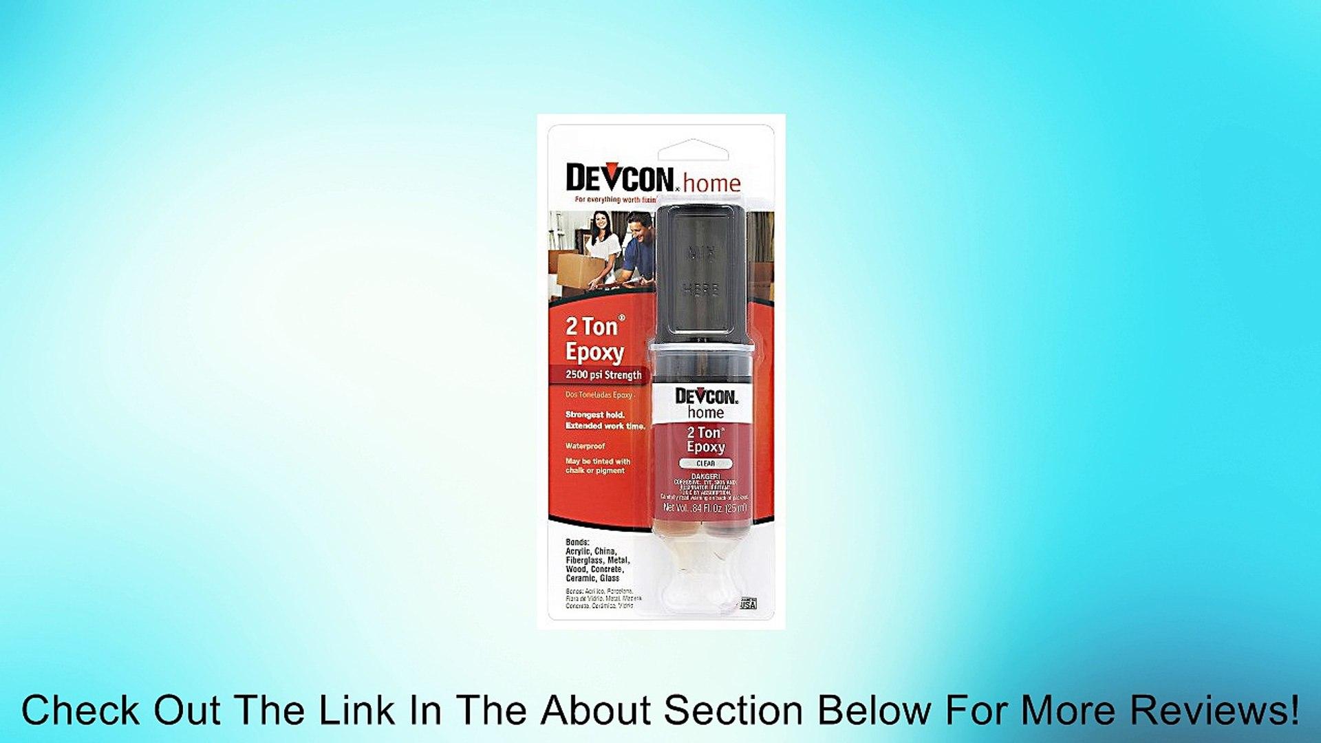 Devcon (31345-6PK) 2 Ton Epoxy - 25 ml Dev-Tube, (Pack of 6