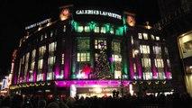Galeries Lafayette : Un monstre de Noël illuminé !