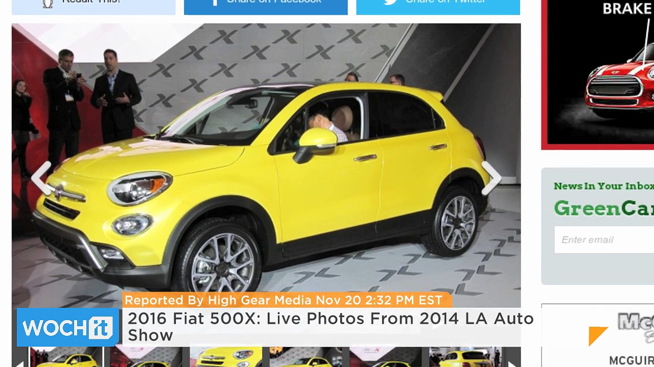 2016 Fiat 500X: Live Photos From 2014 LA Auto Show