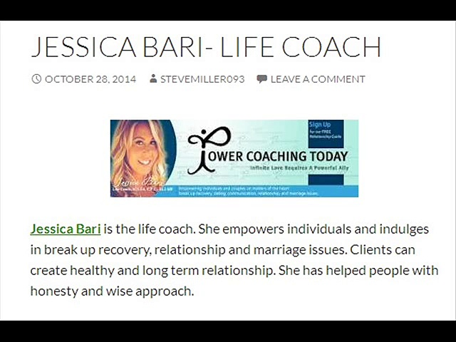 Jessica Bari- Life Coach