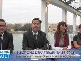 HERAULT - 2014 - Sébastien FREY et Marie Christine FABRE de ROUSSAC candidats de GENERATION HERAULT par Didier DENESTEBE
