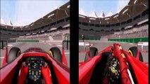 Ferrari F14 T VS Ferrari F138, Yas-Marina Circuit, OnBoard, F1 2014 F1 2013 HD