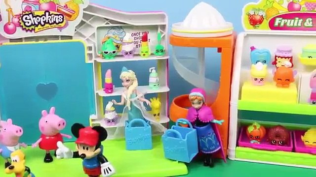 Shopkins Mickey Mouse Clubhouse Peppa Pig Disney Frozen Elsa Anna Minnie Open Surprise Toys Review