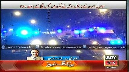Explosion in London Hotel Housing Asif Ali Zardari