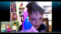 SKYPE Calls with Frozen Princess Anna Elsa and Prince Eric - Disney Cars Toy Club DCTC