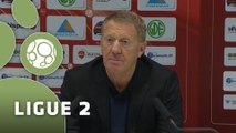 Conférence de presse Valenciennes FC - Stade Brestois 29 (0-1) : Bernard  CASONI (VAFC) - Alex  DUPONT (SB29) - 2014/2015