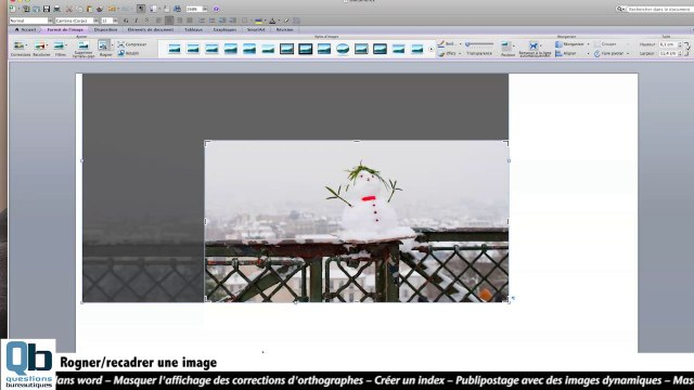 Comment Rogner Une Image Sous Word Video Dailymotion