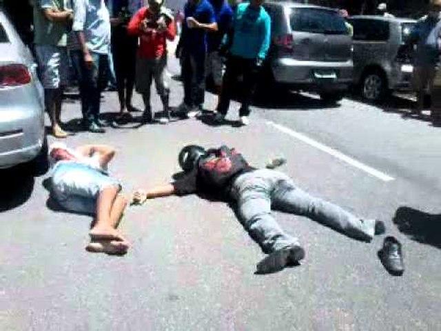 Assaltantes são baleado em tentativa de roubo
