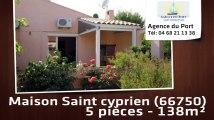 A vendre - maison/villa - Saint cyprien (66750) - 5 pièces - 138m²