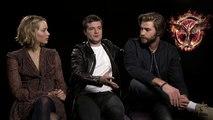 The Hunger Games- Mockingjay - Part 1 (2014) Generic Interview - Jennifer Lawrence, Josh Hutcherson and Liam Hemsworth