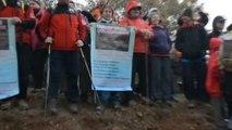 Manisa Turgutlu Çaldağı'nda 'Vahşi Madenciliğe Hayır Eylemi