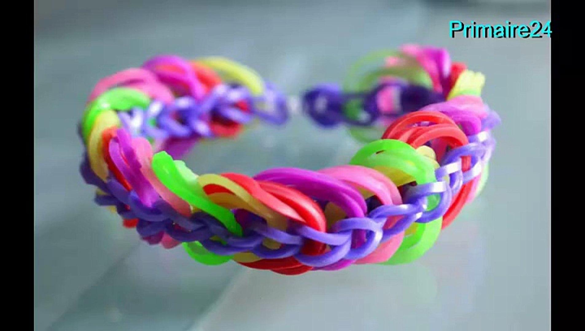 couleur attrayante bon ajustement à bas prix Comment faire un bracelet élastique Rainbow Loom triple chaine DIY