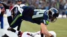 Seahawks' Cooper Helfet Bodyslams Cardinals' Rob Housler WWE Style