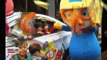 """""""Pororo taxis"""" take on Seoul streets, joining """"Tayo buses"""" and """"Larva trains"""""""