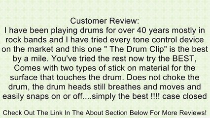 The DrumClip  External Drum Ring Control, Damper / Dampner (Regular) Review