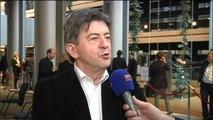 """Le pape au Parlement européen: """"le Parlement n'est pas le lieu d'un prêche"""", selon Mélenchon"""