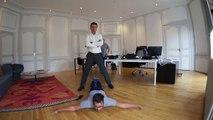 Le maire Hervé Blanché danse le hip-hop dans son bureau