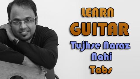 How To Play – Tujhse Naraz Nahi Zindagi – Guitar Tabs – Masoom – Lata Mangeshkar