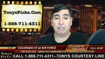 Air Force Falcons vs. Colorado St Rams Free Pick Prediction NCAA College Football Odds Preview 11-28-2014