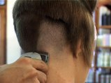 Hair Shaved - Long hair shave video - Long head shaved off Buzzed off hair cut women
