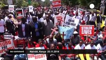 Kenyans protest surge in terrorism and insecurity