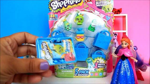 Shopkins 5 PACK Season 1 Opening Review Shopkins Blind Basket Rare Shopkins Frozen Anna and Elsa