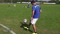 How to do Roberto Carlos Rainbow Lob Trick   Football Soccer Tricks Skill   Fußball   futbol