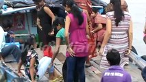 Girls and boys Travelling in Hooghly River , watching the people at Belur Math by wildindiafilms