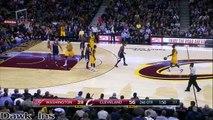 LeBron James gifle Paul Pierce et monte au dunk