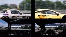 Mercedes-Benz SLS GT3 VS McLaren MP4 12C GT3, Magione Circuit, Onboard/Replay Side By Side, Assetto Corsa HD