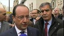 """François Hollande a """"une pensée"""" pour Jacques Chirac"""