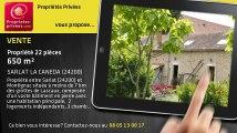 A vendre - propriété - SARLAT LA CANEDA (24200) - 22 pièces - 650m²