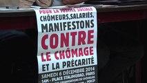 Manif des Chômeurs et Précaires le 6 décembre 2014