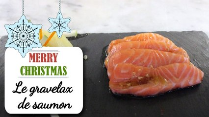 Gravelax de saumon, salade de pommes de terre - Recette de Noël