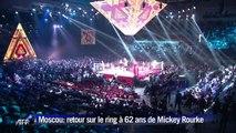 A Moscou, Mickey Rourke fait un retour victorieux sur le ring