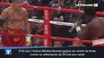 Mickey Rourke retrouve les rings de boxe à 62 ans